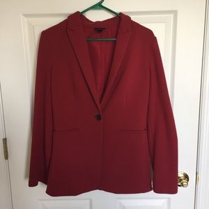 Soft Red Blazer with Single Button